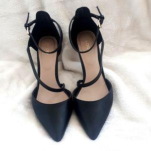 Black Aldo Heels Size 8.5